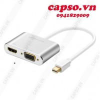 Cáp Mini DisplayPort to VGA + HDMI Ugreen 20421 vỏ nhôm