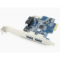 Card PCI-E to USB 3.0 2Port+ 20Pin