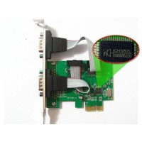 Card PCI-E to RS232 2Port Diewu AX99100