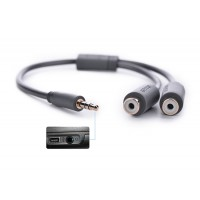 Cáp Audio 3.5mm Male to 2RCA Female 0.2m Ugreen 10547 mạ vàng 24K